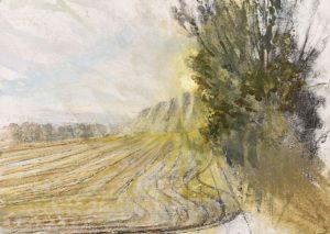 Michael Chaitow artist, painter, artwork, original artwork, painting. Open Field, watercolour 2016