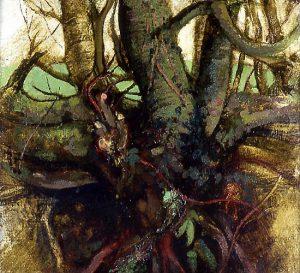 Michael Chaitow artist, painter, artwork, original artwork, painting. Winter Trees, oil 2002, 72 x 76 cm