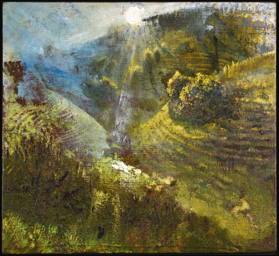 Michael Chaitow artist, painter, artwork, original artwork, painting. Dunkerton Valley, oil 2015.