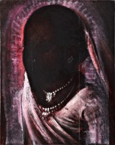 Michael Chaitow artist, painter, artwork, original artwork, painting. Indian Leaves, Anima India II, oil 2015
