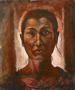 Michael Chaitow artist, painter, artwork, original artwork, painting. Indian Leaves, Davina, oil 2014