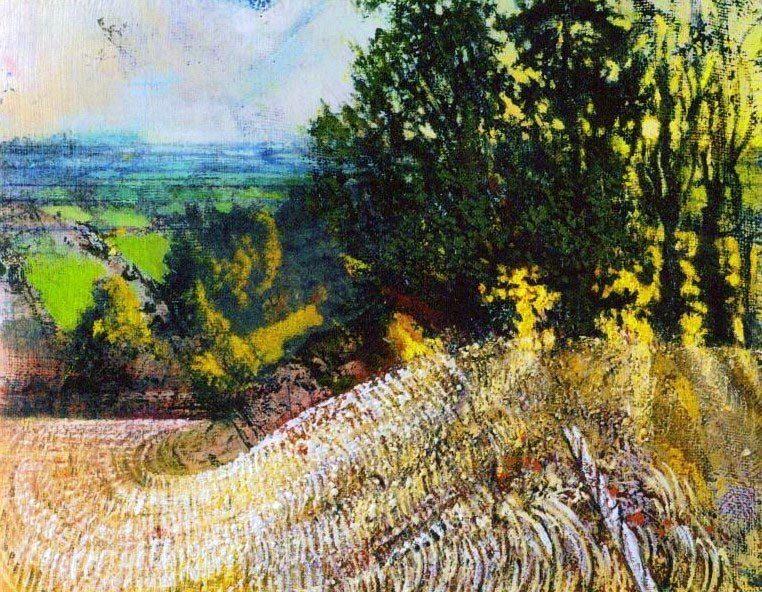 Michael Chaitow artist, painter, artwork, original artwork, painting. Summer Dawns, oil 2015.