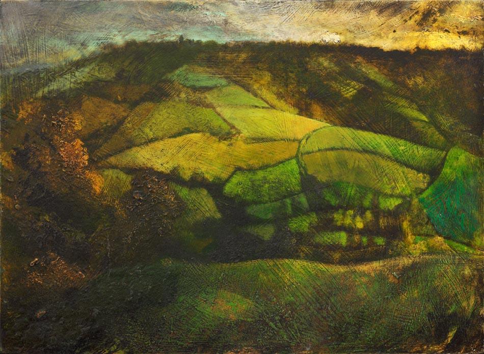 Michael Chaitow artist, painter, artwork, original artwork, painting. Towards Landsdown, oil 2016.