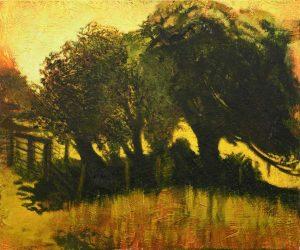 Michael Chaitow artist, painter, artwork, original artwork, painting. Summer Trees, oil 2016, 70 x 75 cm
